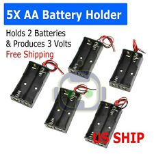 4Pcs AA Battery Holder with Switch,Battery Holder with Switch,1x 1.5V AA Battery Holder,1x 3V AA Battery Holder,1x 4.5V AA Battery Holder,1x 6V AA Battery Holder,with Leads and Switch Cover