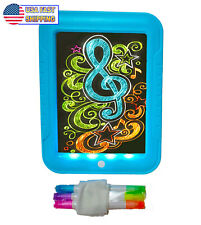 Kids Light Up LED Drawing Painting Board - Magic Glow In The Dark Doodle Pad