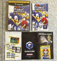 Sonic Heroes Nintendo Gamecube Complete + Manual FAST SHIP! Sega Hedgehog TESTED