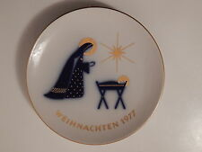 DEKORATIVER  KPM BERLIN  WEIHNACHTSTELLER  1977  JAHRESTELLER  KPM  BERLIN !!!