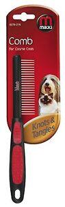 PET GROOMING COMB MIKKI DOG CAT PUPPY FOR MEDIUM COATS KNOTS & TANGLES FUR