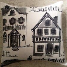 "New Designer  La Maison House Home Black & white Fabric Cushion Covers 16"""