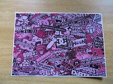 Sticker Bomb Hoja 3b-Rosa-A4 tamaño