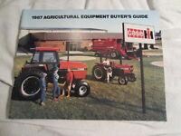 Case-IH 1987 Buyers Guide Catalog 200-85-94-96-91+Tractors Combines
