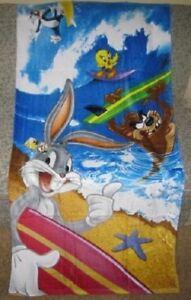 New Looney Tunes Bugs Bunny Tweety Taz Sylvester Pool Bath Beach Gift Towel NIP