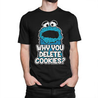 Cookie Monster 'Delete Cookies' T-shirt, Sesame Street Tee, All Sizes