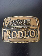 Case Loader Backhoe Rodeo Belt Buckle Vintage