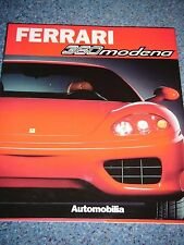 FERRARI 360 MODENA GT AUTOMOBILIA BOOK ENGLISH FRENCH ITALIAN LANGUAGE