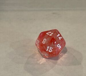 chessex red nebula D20 oop dice o