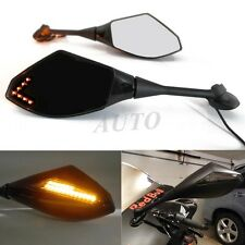 LONG ALUMINUM STEM LED TURN SIGNAL REARVIEW MIRRORS FOR HONDA1000RR SUZUKI GSXR