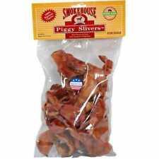 Smokehouse 100percent Natural Piggy Slivers Dog Treats 24pack Ship