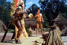 Ron Ely Tarzan Full Length In African Village 11x17 Mini Poster