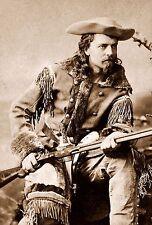 "Buffalo Bill Cody Western Photo Sepia  8 X 10"""