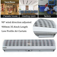 """900mm Air Curtain Commercial 35.4""""inch Length Low Profile 9-11m/s Speed Air Door"""