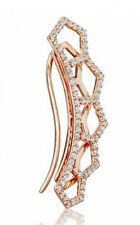 1.16CT NATURAL DIAMOND 14K SOLID ROSE  GOLD WEDDING ANNIVERSARY HAIR PIN