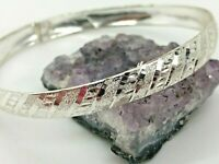 FAS Vintage Sterling Silver Very Thin Bangle Bracelet 3.8 Grams