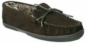 Men's Hush Puppies Real Suede, Faux Fur Lined Full Slippers : Ace