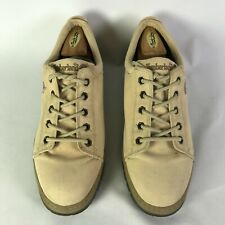 Timberland Mens Round Toe Lace Up Oxfords Shoes Cream Size US 11.5 M Canvas