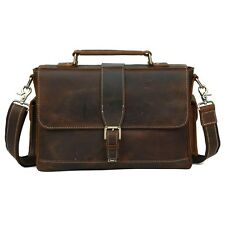 "Mens Vintage Cow Leather 13"" Laptop Briefcase Handbag Messenger shoulder Bag"