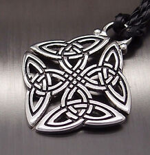 "Celtic Knot Trinity Pewter Pendant with 20"" Necklace"