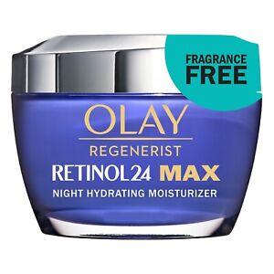 Olay Regenerist RETINOL 24 MAX 2X Vitamin B3 Night Hydrating Moisturizer - New