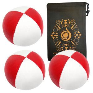 3 x Red/ White 115g Cascade Classic Pro Thud Juggling Balls & Bag - Beginner Set
