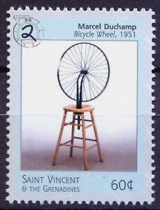 St. Vincent & Gr. 2000 MNH, Sculpture - Bicycle on Wheel, Art, Millennium