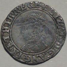 More details for elizabeth i shilling hammered tudor coin, mm key key over woolpack & variations