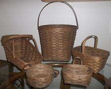 Longaberger Vintage 5 Basket Lot Button, Lg Vegtable, Lg Measuring, Spring.