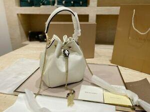 Bvlgari Serpenti Bucket Bag White