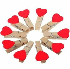 10pcs Sweet Lolita Wooden Mini Clip Wood Pegs Kids Crafts Party Favor Supply