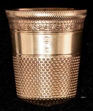 Antique H. MUHR SONS Gold Thimble Size 9