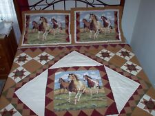 Western King Patchwork Quilt and Shams 95x105