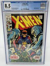 X-Men 57 CGC 8.5  Vol.1 1969 First Sentinel MKII Uncanny Xmen Silver Age Key