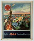 "Vintage 1920s American LaFrance Fire Engine firetruck Brochure ""Quick Action"" FD"