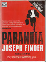 Joseph Finder Paranoia 12 Cassette Audio Book Unabridged Crime Thriller FASTPOST