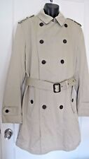 Banana Republic Men's Double Breasted Belted Rain Trench Coat Size Large - New