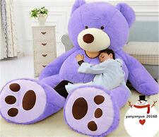 "80'' Huge Soft New Giant Big Plush gift ""purple ""Usa Teddy Bear(10Kg) +Ems ship"