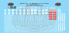 Green Bay & Western Gbw Locomotive Decals Ho Scale Minnesota Commercial