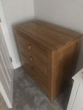Solid oak chest of drawers, oak furniture land Oakdale range