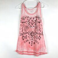 Maurices Womens Graphic Tank Top Size Small Multicolor Sleeveless Blouse