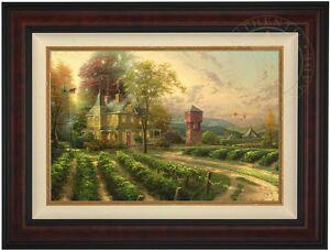 Thomas Kinkade Abundant Harvest 18 x 27 LE Gallery Proof Canvas (Burl Frame)