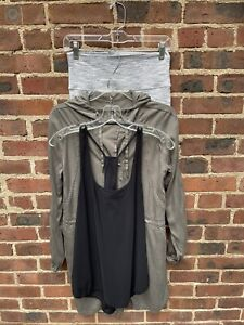 Lululemon Lot Of 3: Jacket,  Tank & Crop Size 8