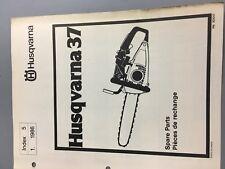 husqvarna chainsaw 37 1986 illustrated parts list manual chainsaw
