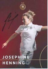 Josephine Henning   DFB Frauen Fußball Autogrammkarte signiert 379157
