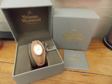 VIVIENNE WESTWOOD LADIES WATCH oval face, fawn leather strap boxed & Tags