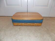 * Longaberger * 2005 Letter Tray Combo (Basket, Liner, Wood Lid) Warm Brown Wb