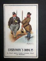 Rare Vintage PC: Artist Signed: D McGill #A496: Everybody Doing It: WW1: NVR