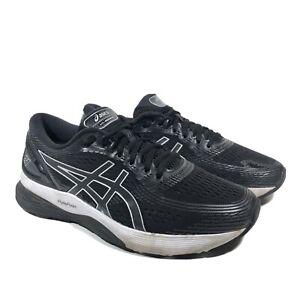 Asics Gel-Nimbus 21 FlyteFoam Athletic Running Shoes Black Gray - Mens Size 10
