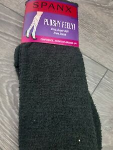 Pack Of 3 SPANX Plushy Feely Super Soft Knee Socks Charcoal BNWT 2080 One size